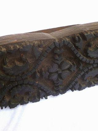 tampon ancien a impression Batik et textile en bois