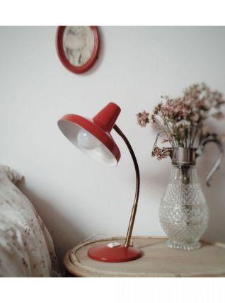 Lampe rétro rouge et or