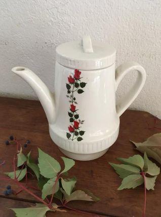 Théière ou cafetière fleurie vintage.
