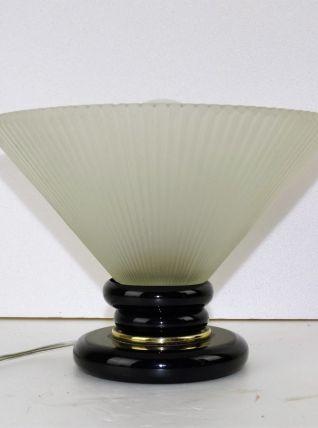 lampe a poser de table en pate de verre vintage