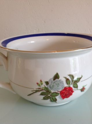 Ancien pot de chambre en ceramique Moulin des Loups Orchies