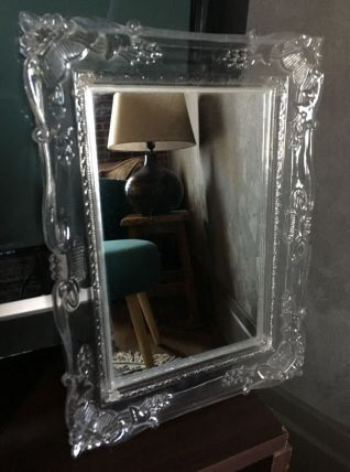 Lot de 2 miroirs avec cadre translucide