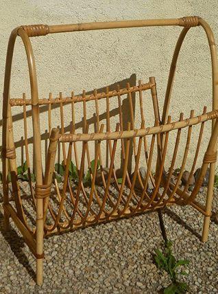 porte  revue  en bambou , vintage