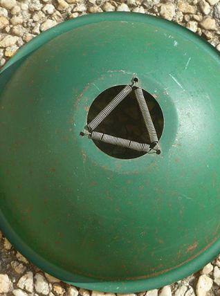 abat-jour,suspension en acier peint vintage