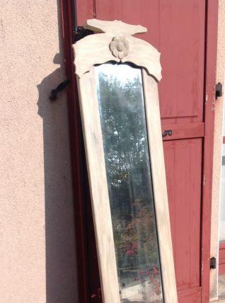 Ancien miroir en bois peint vintage années 50-60
