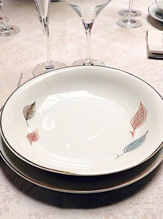 Ensemble de 12 assiettes porcelaine Polonaise - 1960