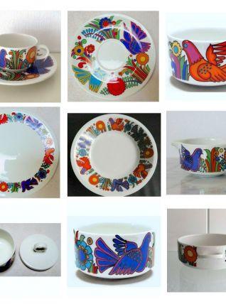 """16 pieces """"Acapulco"""" de C. REUTER pour Villeroy"""