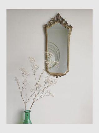 Miroir en laiton ancien