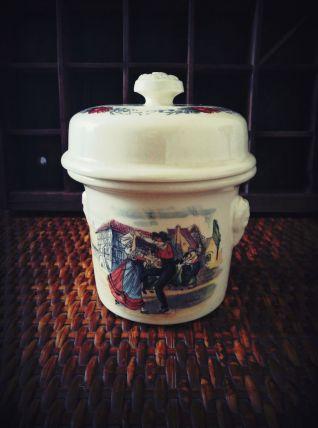 Sarreguemines - pot à foie gras Simplex - décor obernai