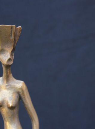 Statuette en bronze doré - Années 70