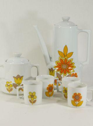 Service à café en porcelaine 70s