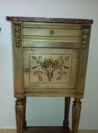 Chevet ou table d'appoint art déco avec marbre