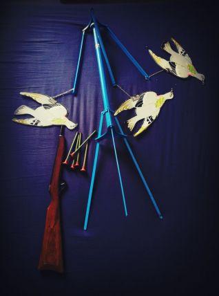 jouet ancien - tir aux pigeons - vintage