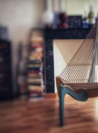 Fauteuil design de type Harp Chair