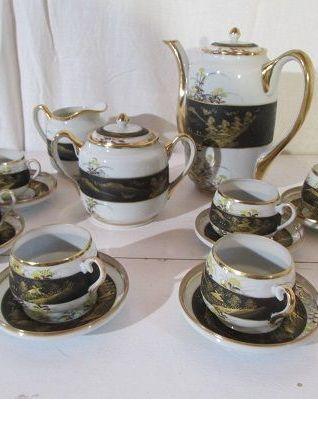 Service à thé en porcelaine fine chinoise
