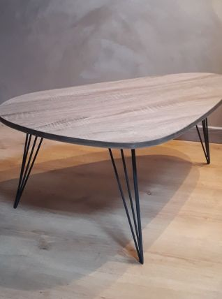 table basse tripode pied en epingle