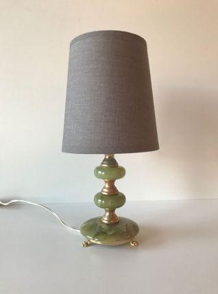 Lampe de chevet onyx et dorure