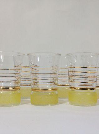 Set de 6 verres à digestif, années 50