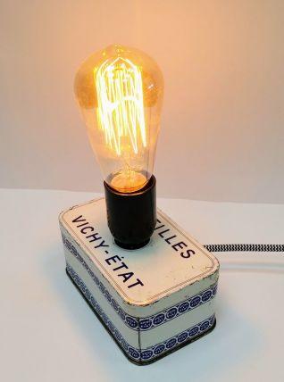 "Lampe vintage, lampe de table, lampe de bureau -  ""La Vichy"""
