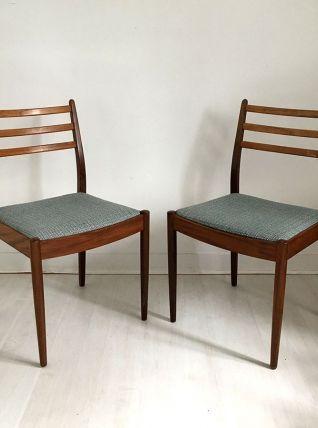Paire de chaises scandinave vintage 60's