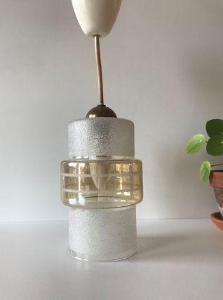Suspension luminaire en verre vintage