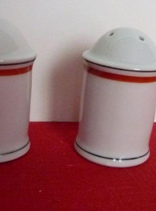 Salière et poivrière Porcelaine d'Auteuil