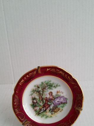 Assiette dinette porcelaine coll scene galante fragonard