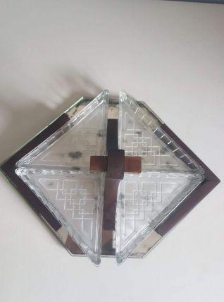 plateau apéritif art déco miroir