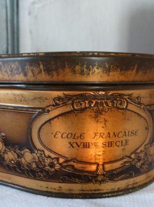 Boite vintage collection inscription école Française