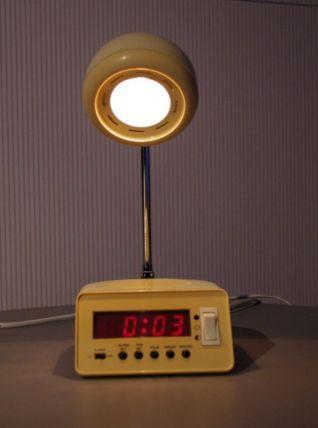Rare lampe de bureau réveil vintage 1970