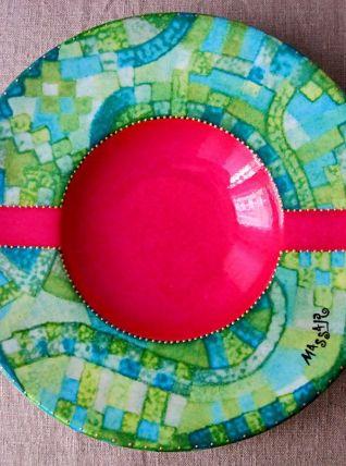 coupe creuse décorative en porcelaine de limoges