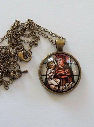 Pendentif Religieux Médaillon Saint ANTOINE