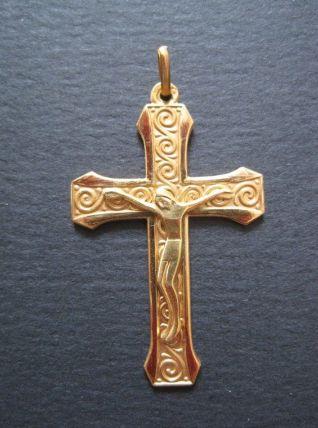 Superbe belles anciennes croix en plaqué or
