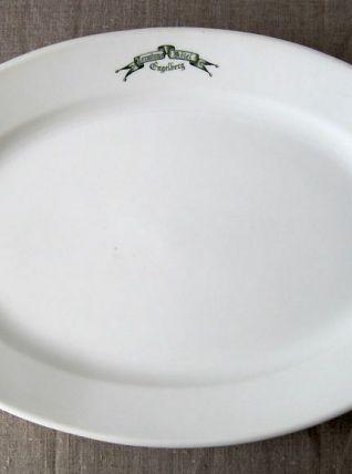Grand plat de service en porcelaine C.P. &Co Hôtel Terminus