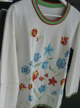 Pull tunique vintage
