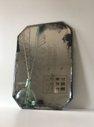Miroir très ancien biseauté à poser