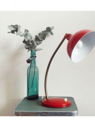 Lampe rouge vintage 60's