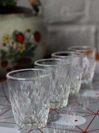 Lots de 4 petits verres à liqueur anciens
