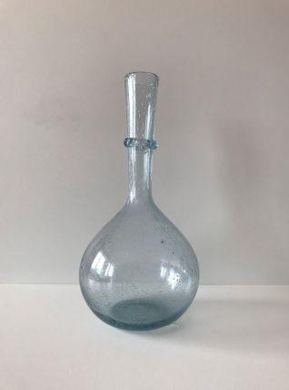 Grand vase en verre soufflé bullé