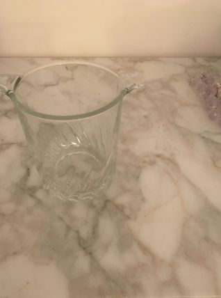 Superbe seau à glace en verre