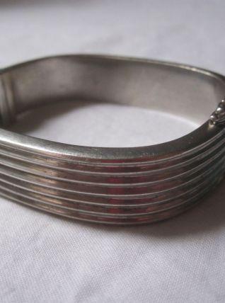 superbe bracelet en argent style art déco