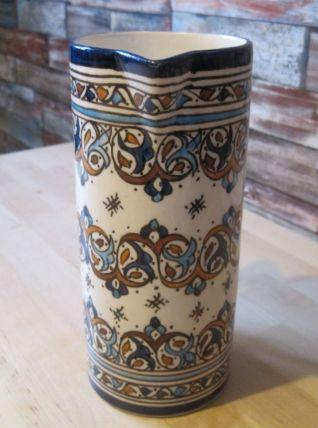 pichet en faience du Maroc FEZ peint main