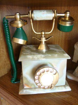 TELEPHONE EN ONYX VERT