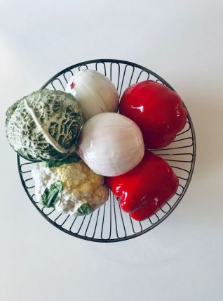 Ensemble de 6 légumes vintage en céramique