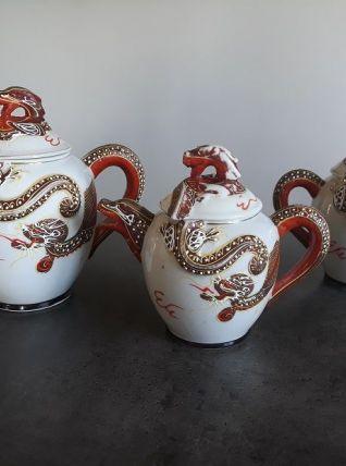 Service a thé décor dragon
