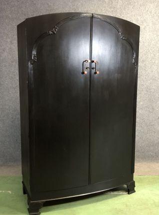 Armoire Dressing Art déco en chêne patine noire