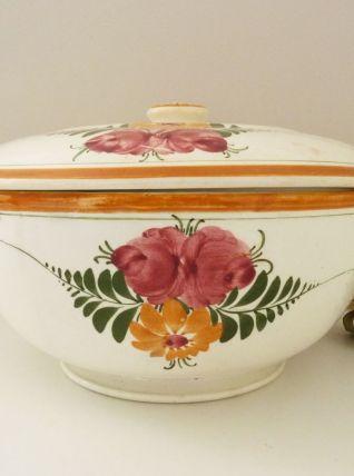 Ancienne soupière en céramique Albert de la Poussardière