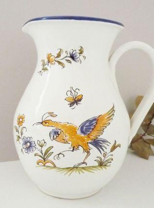 Pichet, carafe, cruche en céramique Décors Moustiers XVIIIe
