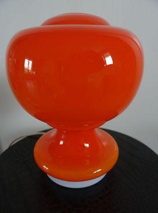Lampe vintage 70's opaline orange