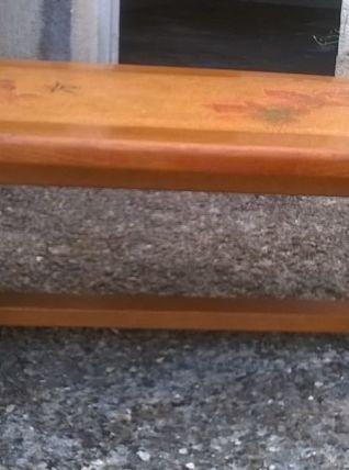 Table basse rustique bordure et piètement en chêne